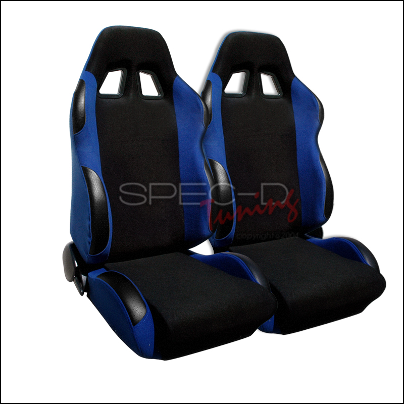Bride Style Racing Seats Black / Blue (Pair)