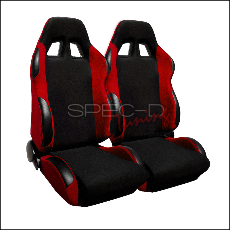 Bride Style Racing Seats Black / Red (Pair)
