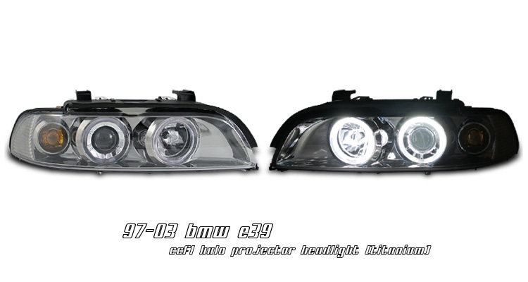 BMW 5 Series 1997-2003 Titanium CCFL Halo Projector Headlights