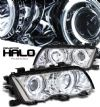 Bmw 3 Series 1999-2001 4dr Chrome W/ Halo Projector Headlights