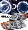Bmw 3 Series 2005-2007 4dr Chrome W/ Halo Projector Headlights