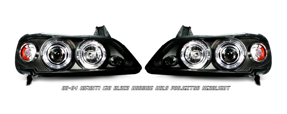 Infiniti I30 2000-2004 Black Projector Headlights