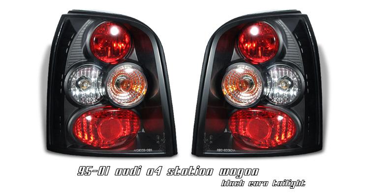 Audi A4 1995-2001 Station Wagon Black Euro Tail Lights