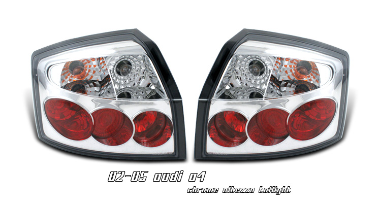 Audi A4 STATION WAGON 2002-2005 Altezza Style Euro Chrome Tail Lights