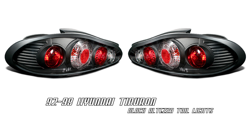 Hyundai Tiburon 1997-1999  Black Euro Tail Lights