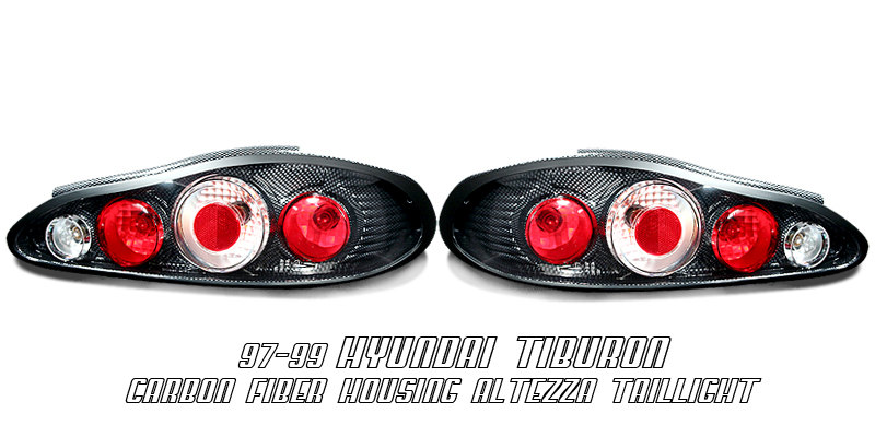 Hyundai Tiburon 1997-1999  Carbon Fiber Euro Tail Lights