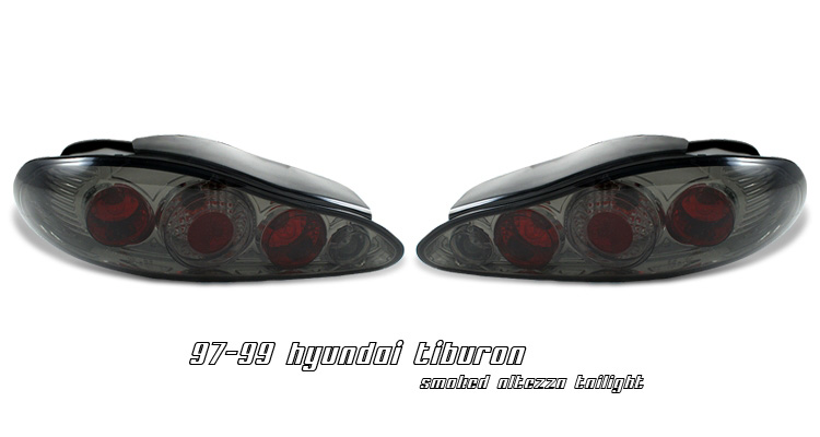 Hyundai Tiburon 1997-1999 Smoke Altezza style Tail Lights