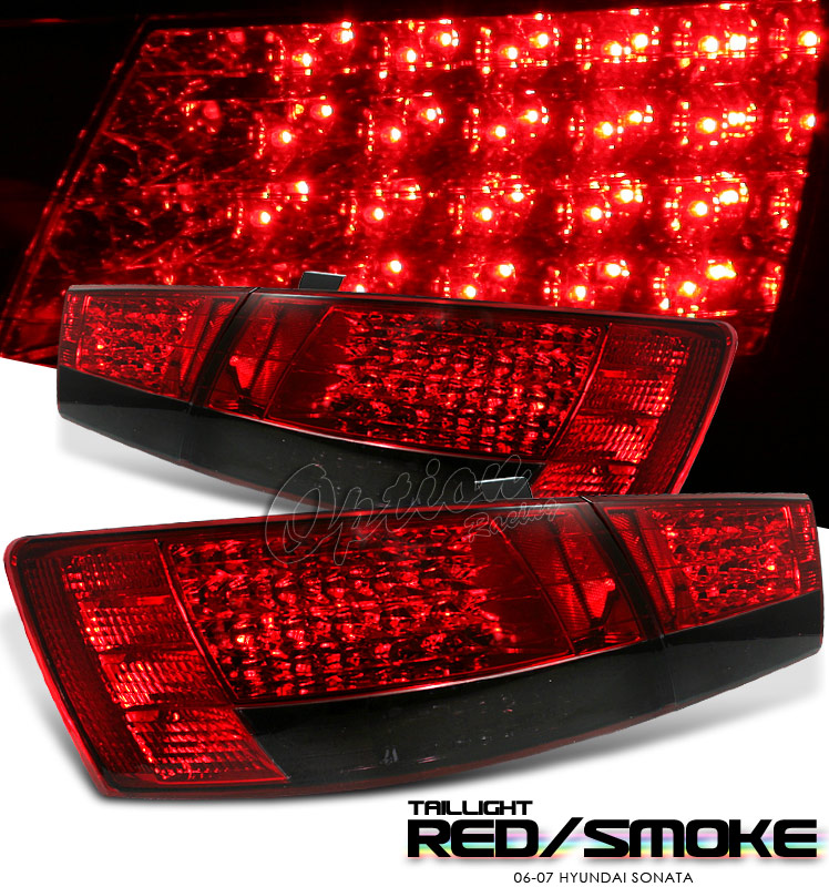 Hyundai Sonata 2006-2007  Red/Smoke Led Tail Lights