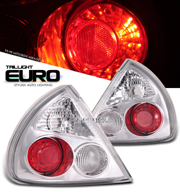 Mitsubishi Mirage 1995-1998  Chrome Euro Tail Lights