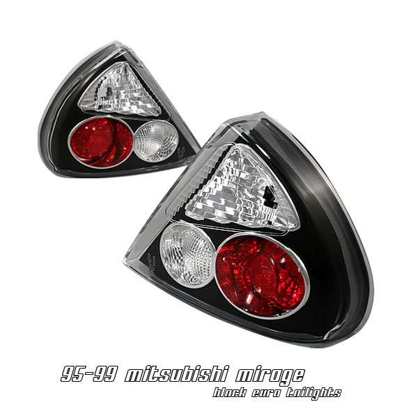 Mitsubishi Mirage 1995-1998  Black Euro Tail Lights