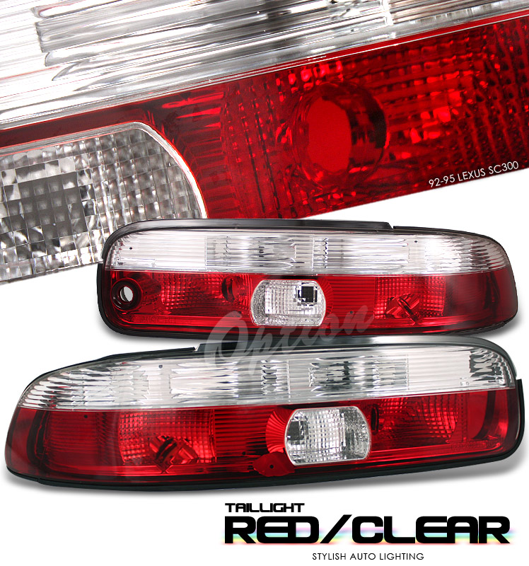 Lexus Sc400 1992-1995  Red / Clear Euro Tail Lights
