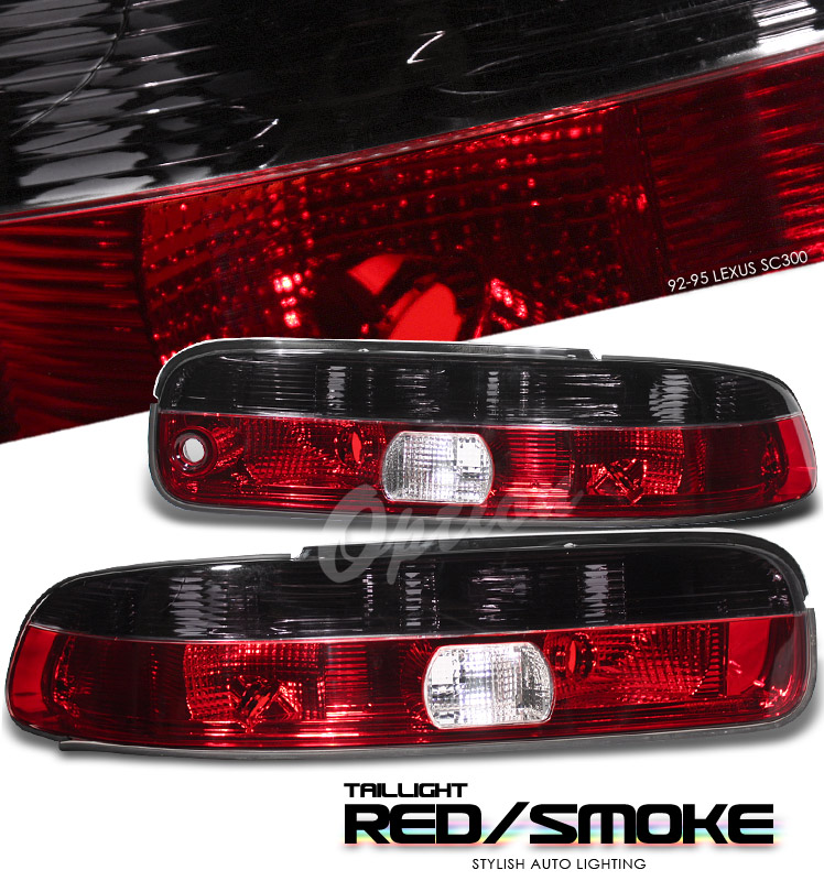 Lexus Sc300 1992-1995  Red / Clear Euro Tail Lights
