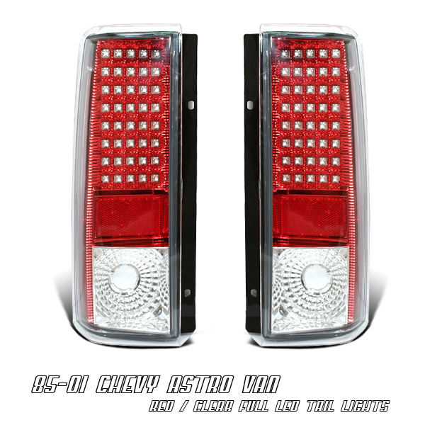 Chevrolet Astro 1985-2005  Chrome Led Tail Lights