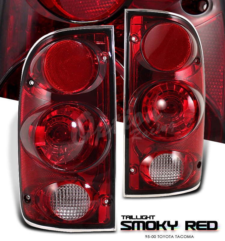 Toyota Tacoma 1995-2000  Red / Smoke Euro Tail Lights