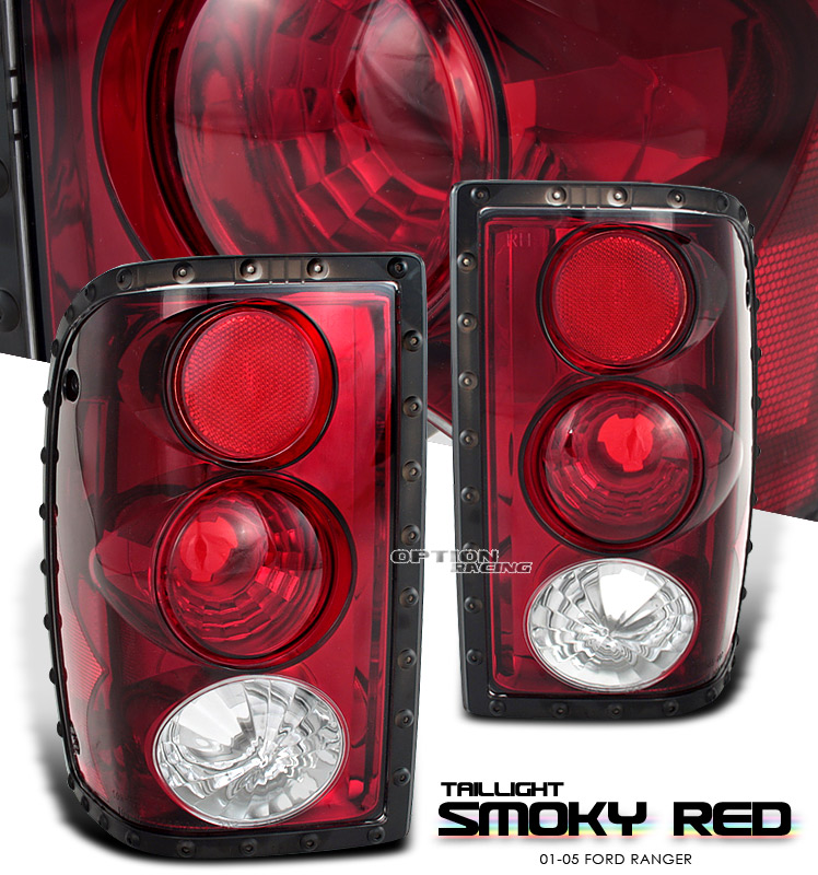 Ford Ranger 2001-2005  Red / Smoke Euro Tail Lights