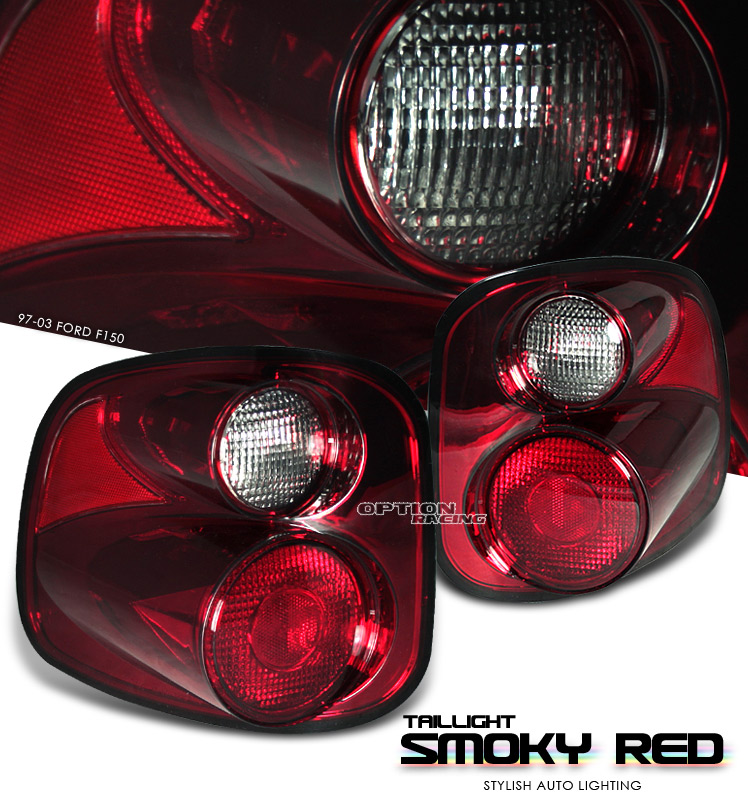 Ford F150 1997-2003 Flareside Red / Smoke Euro Tail Lights