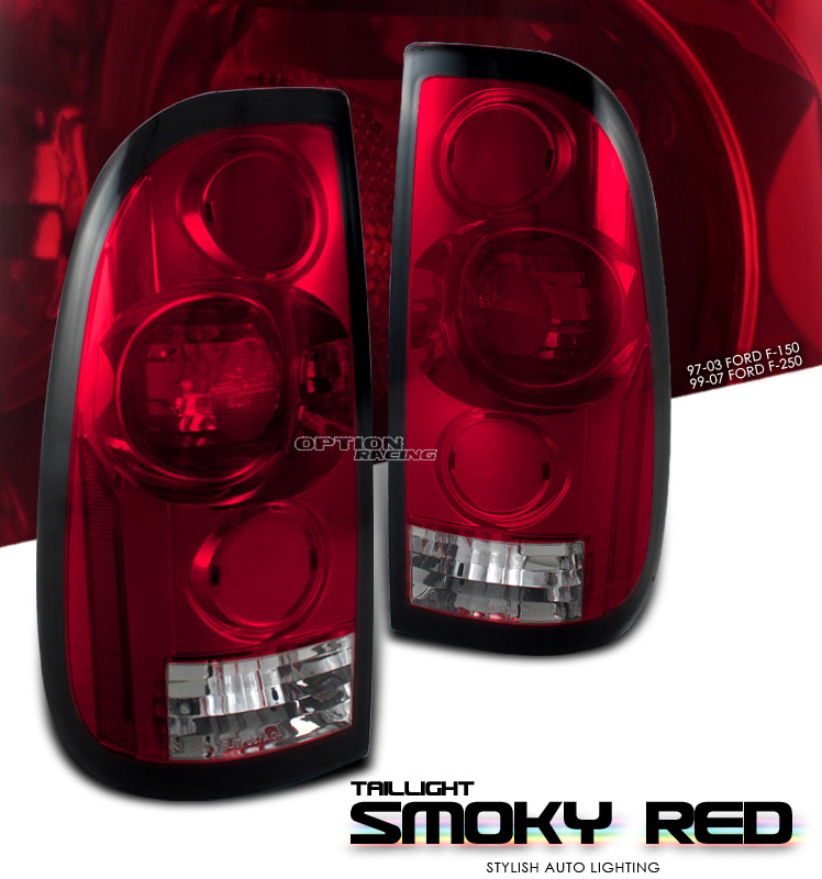 Ford F150 1997-2003  Red / Smoke Euro Tail Lights