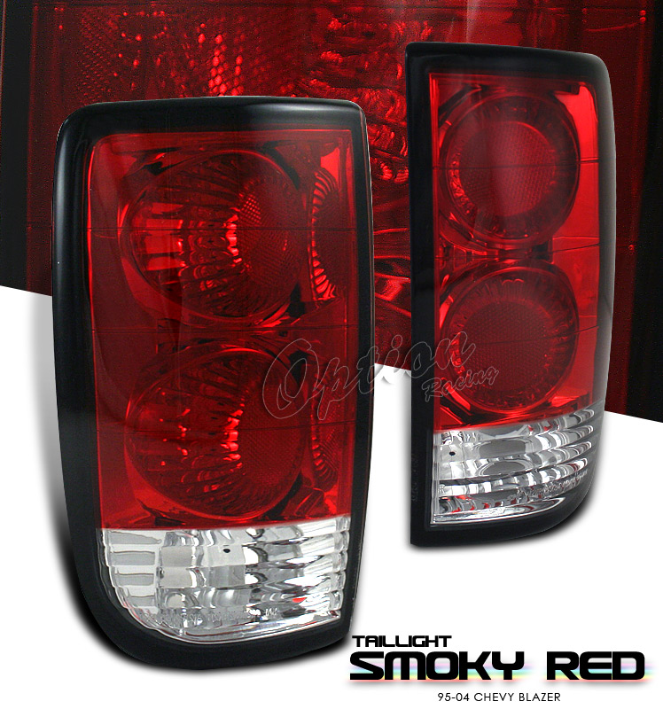 Chevrolet Blazer 1995-2004  Red / Smoke Euro Tail Lights