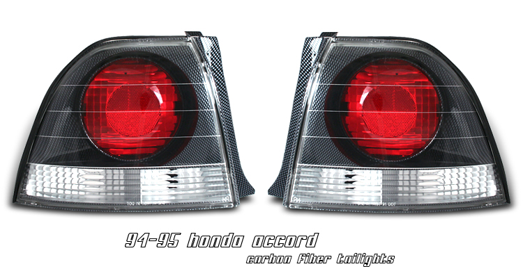 Honda Accord 1994-1995  Carbon Fiber Euro Tail Lights