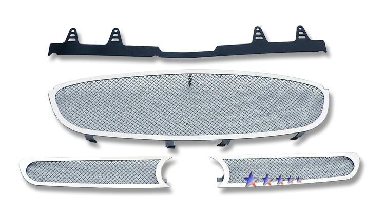Buick Lucerne  2006-2009 Chrome Main Upper Mesh Grille