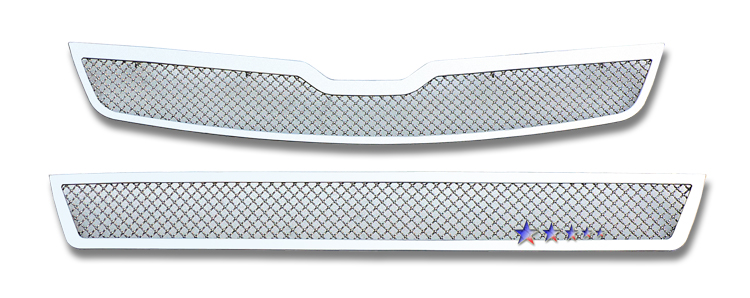 Saturn Vue  2008-2010 Chrome Main Upper + Lower Bumper Mesh Grille