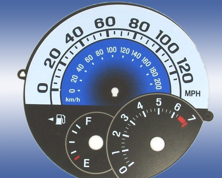 Scion Xb 2004-2007  Blue / Blue Night Performance Dash Gauges