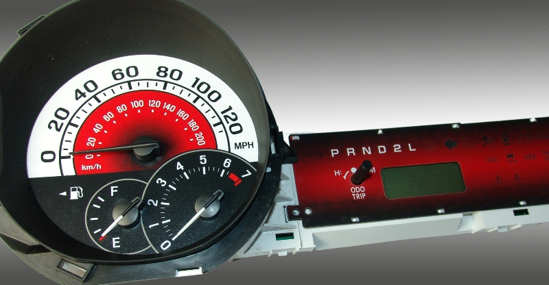Scion Xb 2004-2007  Red / Red Night Performance Dash Gauges