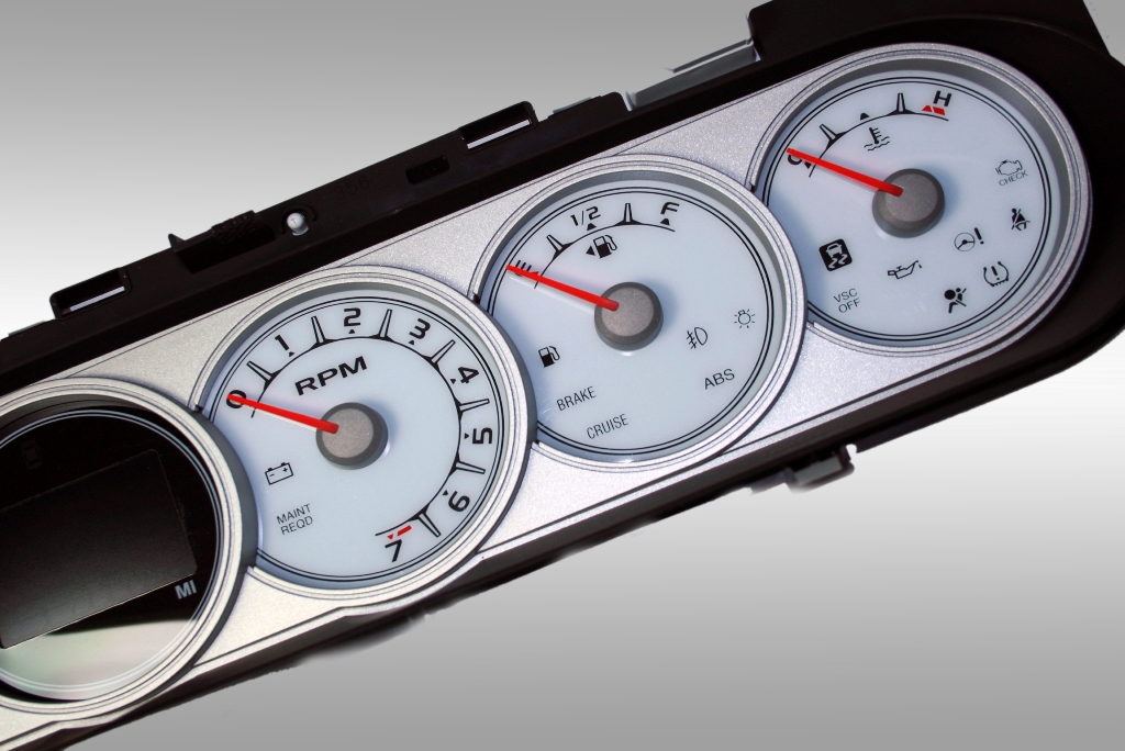 Scion Xb 2008-2009  White / Amber Night Performance Dash Gauges