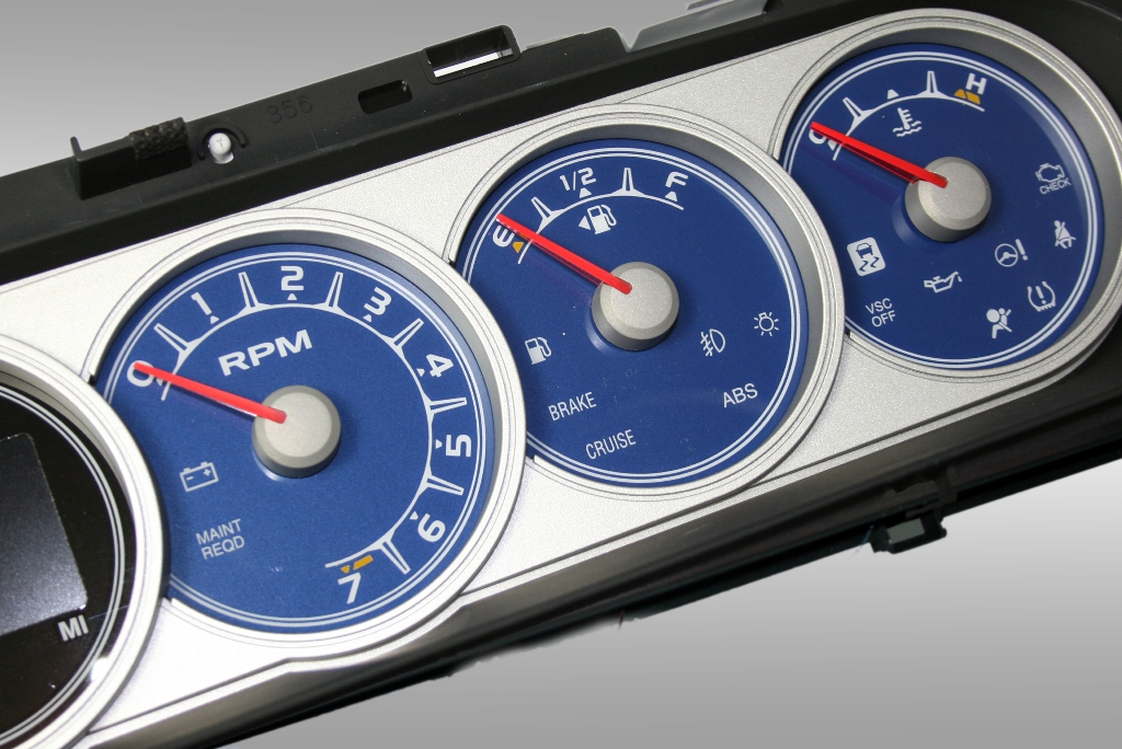 Scion Xb 2008-2009  Blue / Amber Night Performance Dash Gauges