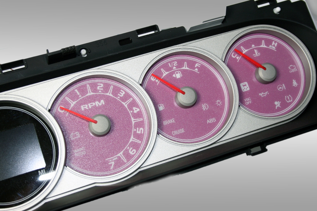 Scion Xb 2008-2009  Pink / Amber Night Performance Dash Gauges