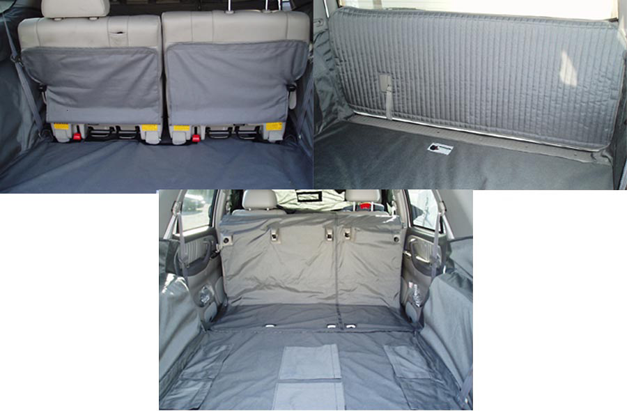 Toyota Sequoia 01-05 Cargo Liner, models w/ Liftgate, Captains Chairs 2nd Row, 3rd Row Bench