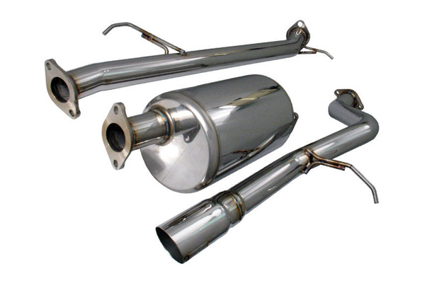 "Honda Element 2003-2011 2wd, Awd & Sc 2.4l 4 Cyl. - Injen Stainless Steel  Cat-Back Exhaust System W/ 3 1/2"" Rolled & Burnt Tip"