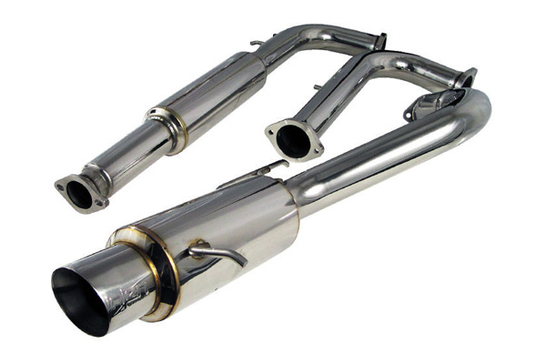 Mitsubishi Eclipse 2000-2005  V6 - Injen Stainless Steel 76mm Cat-Back Exhaust System W/ Slanted Tip