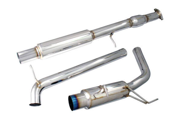 "Mitsubishi Eclipse 2006-2009  3.8l V6 - Injen Stainless Steel 76mm Cat-Back Exhaust System W/ 4 1/2"" Titanium Tip"