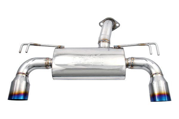 "Mitsubishi Lancer 2008-2009 Evo X 2.0l - Injen Stainless Steel 76mm Axle-Back Exhaust System W/ 4 1/2"" Titanium Tips"
