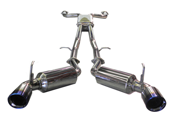Nissan 350Z 2003-2008  3.5l V6 - Injen Stainless Steel 60mm Cat-Back Exhaust System W/ Resonated Titanium Dual Wall, Rolled- Burnt Tips