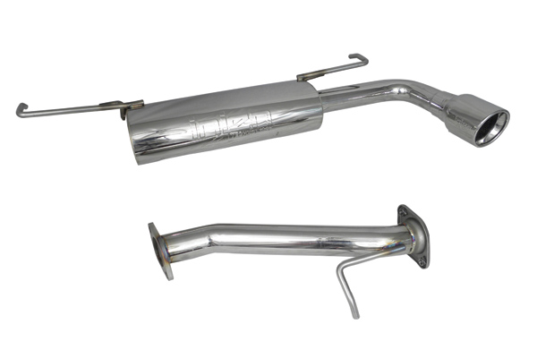 Scion TC 2005-2010   - Injen Stainless Steel 60mm Axle-Back Exhaust System W/ Resonated Tip With Rolled Lip