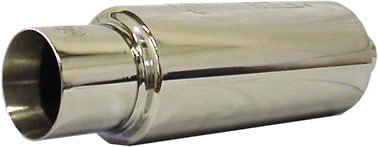Stainless Steel Performance Muffler with 4-1/2 in. Straight Cut Beveled Tip