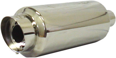 RS Type Stainless Steel Muffler with 4 in. Silencer Tip
