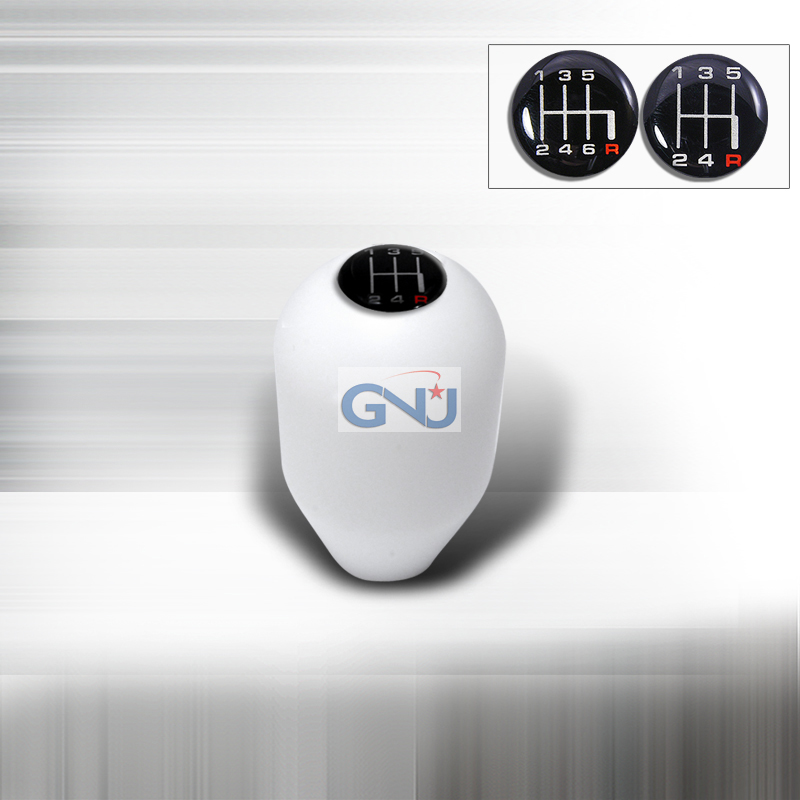 Shift Knob - Jdm Manual Pre-Threaded Shift Knob For Honda/Nissan - White