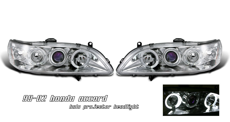 Honda Accord 1998-2002 Projector Head lights W/ Halo