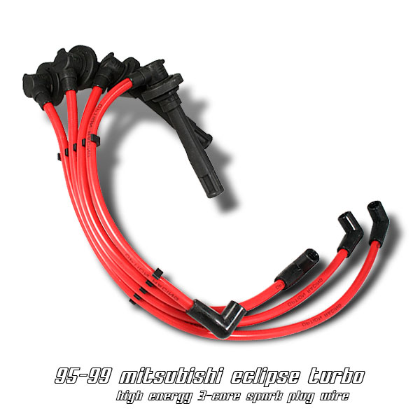 Mitsubishi Eclipse 1995-1999 Turbo Red Spark Plug Wires