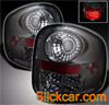 2000 Ford F150 Flareside  LED Tail Lights Chrome/Smoked Lens