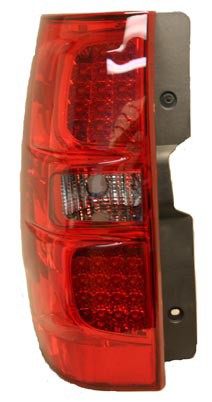 Chevrolet Suburban 2007 - 2008 LED Tail Lights Red Smoked Lens