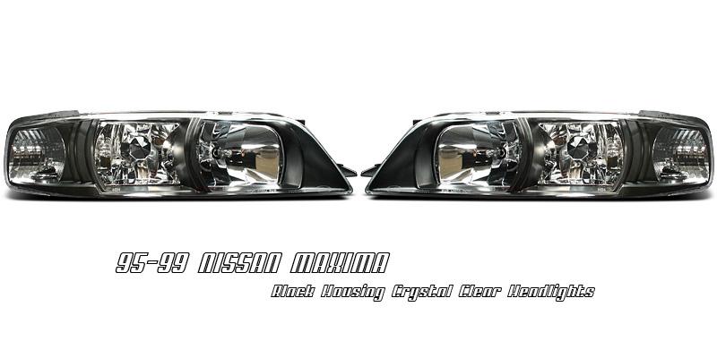 Nissan Maxima 95-99 Black R34 Style Headlights