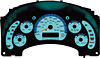 Ford 99-00 Mustang GT Speed glo Gauges