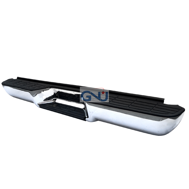 Chevrolet Full Size Pickup 1988-2000 C10 Fleet Side - Chrome Rear Step Bumper W/O Impact Strip
