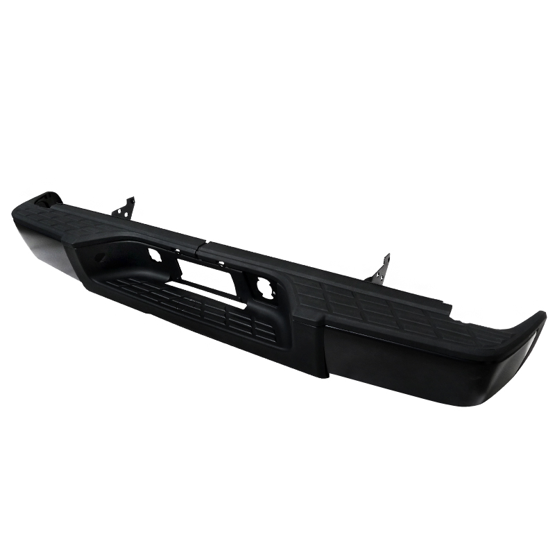 Chevrolet Silverado 2007-2010  1500 - Black Rear Step Bumper W/O Backup Sensor