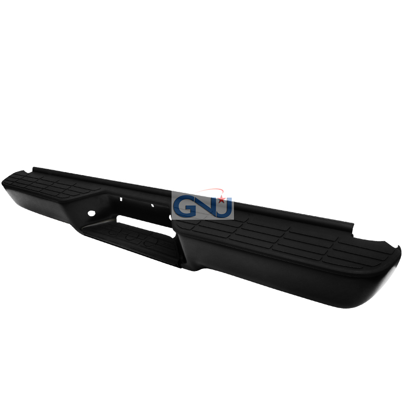 Chevrolet Tahoe 1992-1999   - Black Rear Step Bumper W/O Impact Strip