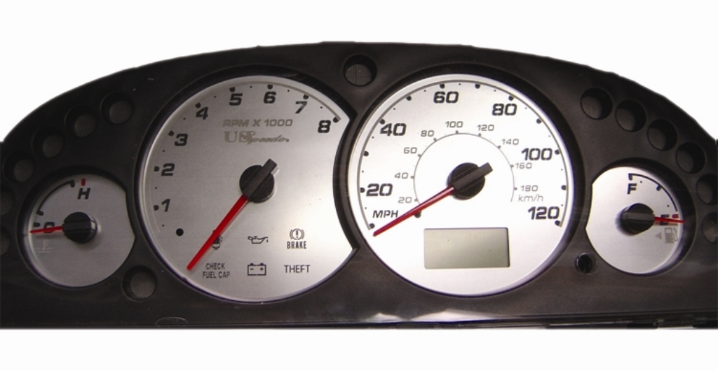 Ford Escape 2002-2004  Mph Stainless Steel Gauge Face